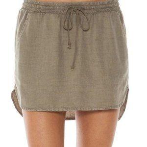Anthropologie Bella Dahl Gray Drawstring Skirt XS